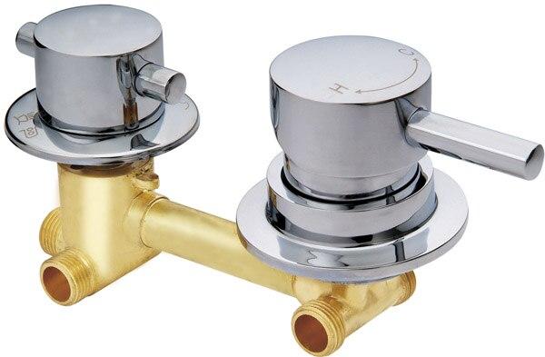 Robinet mélangeur de salle de douche, vanne de mélange de salle de douche 2/3/4/5 voies vanne de commutation d'eau froide et chaude accessoires de robinet de salle de douche