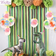 FENGRISE 12Inch Animal Balloon Dinosaur Party Ballons Jungle Baloon Birthday Decorations Kids Balloons
