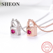 New arrival three wearing methods 925 sterling silver lock pendant necklaces with zircon fashion jewelry for women free shipping цена и фото