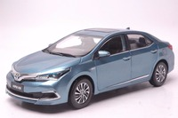 1:18 Diecast Model for Toyota Corolla Hybrid 2015 Blue Alloy Toy Car Miniature Collection Gifts