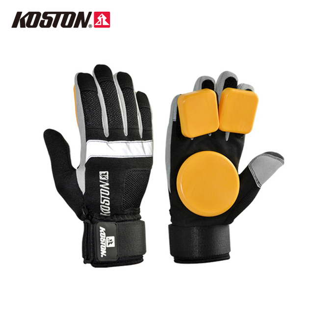 KOSTON Longboard Sliding Gloves with POM Puck Professional Protective Gloves Skateboarding Riding M /L AC631