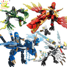 115pcs+ ninja dragon knight building blocks enlighten toy for children Compatible Legoing Ninjagoes DIY bricks for boy friends(China)