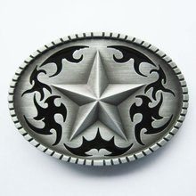 Wholesale Retail Oval Western Star Belt Buckle Factory Direct Fast Delivery Free Shipping