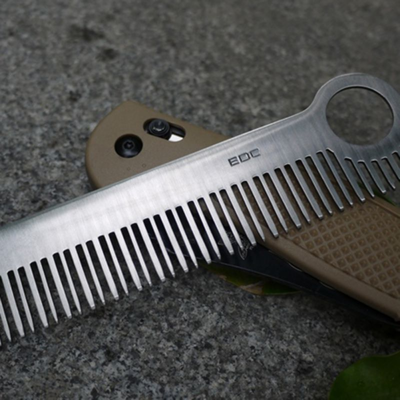 EDC Hair Comb Unisex Ti Titanium / Stainless Steel Health Care Tactical Pocket Drop Shipping