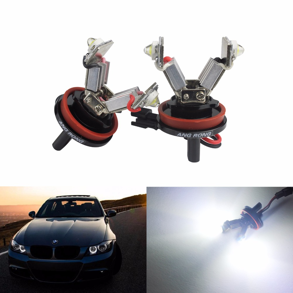 ANGRONG <font><b>LED</b></font> Angel Eyes Halo Light Error Free H8 Bulb For <font><b>BMW</b></font> E92 E93 <font><b>E90</b></font> E60 E82 E87 E70 E71(CA115) image