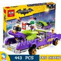 443 unids super heroes batman película 07046 el comodín notorio lowrider diy modelo kit de construcción bloques juguetes de regalo compatible con lego