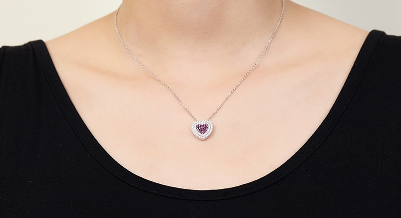 heart shape pendant necklace for special peopleDP14020A (1)