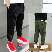 New 2019 Mùa Thu Thanh Thiếu Niên Jeans Cho Cậu Bé màu xanh lá cây Bé Trai Quần Jeans Trẻ Em Thiết Kế Jean Trẻ Em của Đàn Hồi Eo Denim quần dài