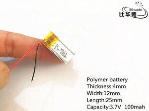 Бесплатная доставка 10 шт./лот 3,7 V 100mAh 401225 литий-полимерная LiPo аккумуляторная батарея li ion для Mp3 PAD