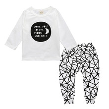 2017 Casual Boys Girls Clothing Set Autumn Kids Clothes Letter Printing Long Sleeve Tops Net Trousers