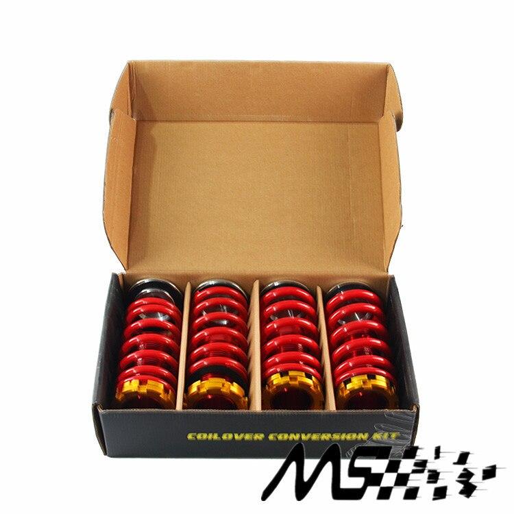 De aluminio forjado Coilover Kits para Honda Civic 88-00 rojo disponible Coilover suspensión/bobina Springs Nuevo-adecuado para la modificación del coche 88-00 Civic Dohc B16 B18 Red poliuretano transmisión engranaje tipo bushing Kit de casquillo de la palanca