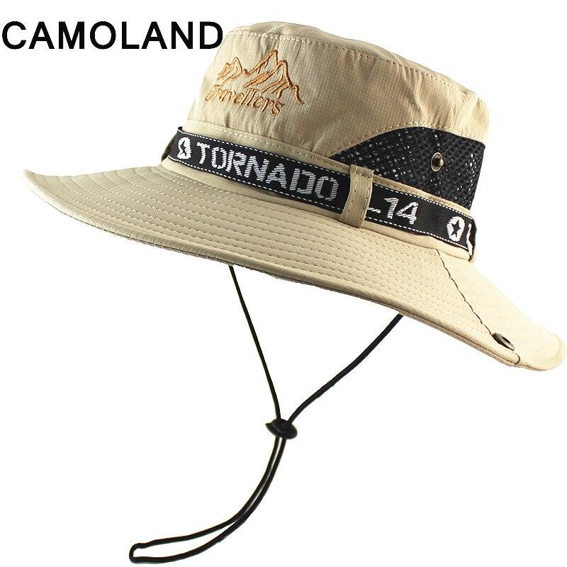 Men's Summer Outdoor Sun Protection Hat Fishing Cap Wide Brim Hat Quick Dry