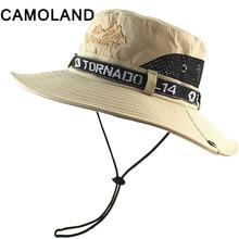 Breathable Mesh Summer Sun Hats Quick Dry Beach Male Wide Brim Sun Men Women Outdoors UV Protection Fishing Bucket Hat Flat