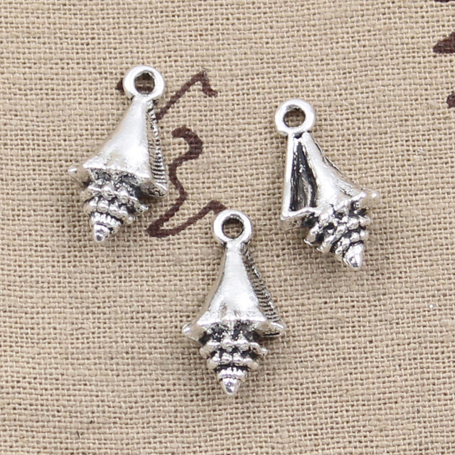 12pcs charms conch shell 21116mm antique silver plated pendants 12pcs charms conch shell 21116mm antique silver plated pendants making diy handmade mozeypictures Gallery