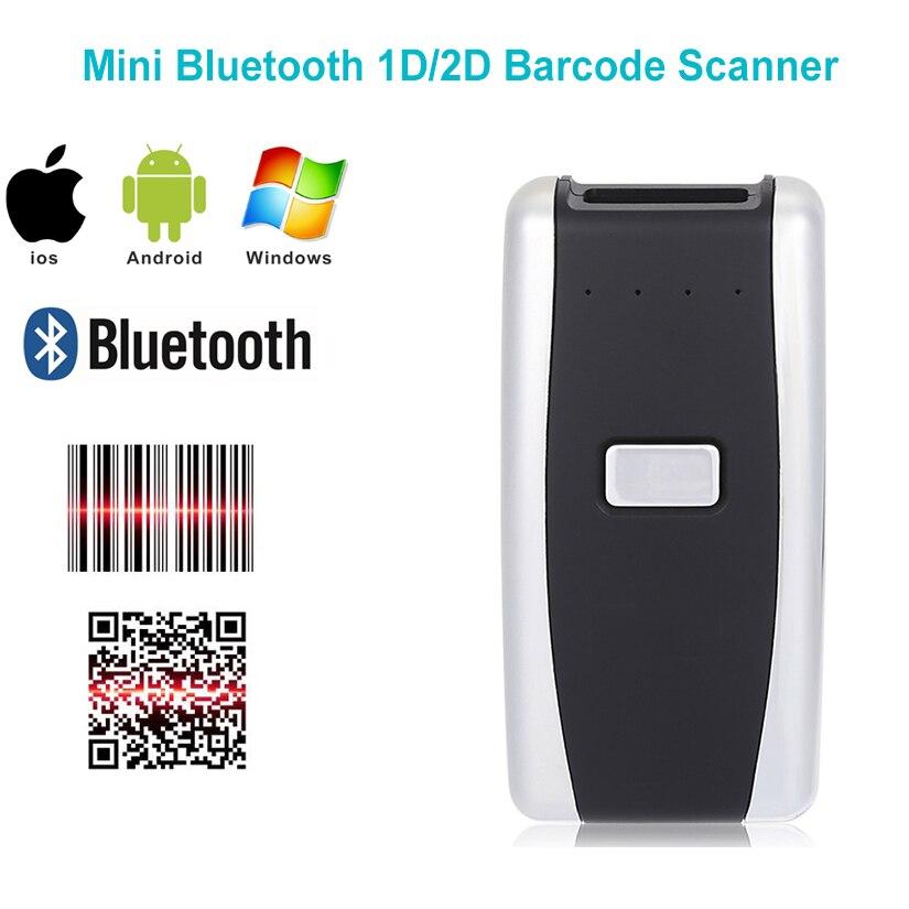 o envio gratuito de mini bluetooth portatil 1d 2d scanner leitor de codigo de barras qr