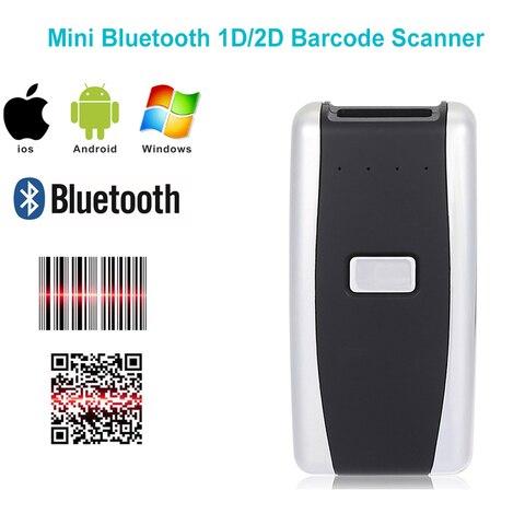 o envio gratuito de mini bluetooth portatil 1d 2d scanner leitor de codigo de barras
