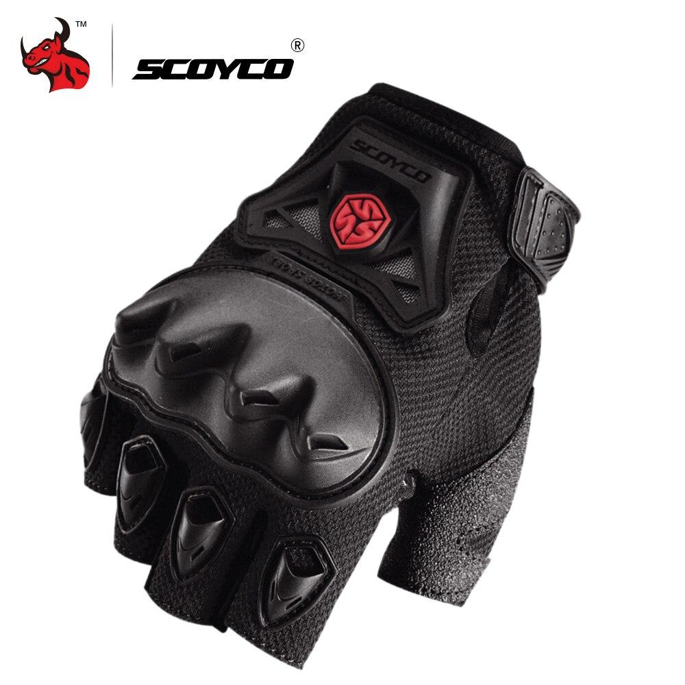 SCOYCO Motorcycle Gloves Motocross Off-Road Racing Gloves Moto Half Finger Gloves Summer Motorbike Gloves Motorcycle Protection