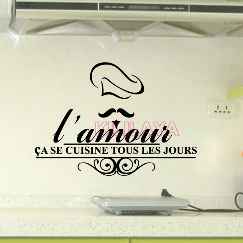 .com : Buy Stickers French Cuisine Lamour Vinyl Wall Sticker ...
