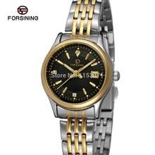 FSL8089Q4T2 Forsining марка последние женщины кварцевые часы из нержавеющей стали браслет с золотой цвет баров индекса, высокое качество