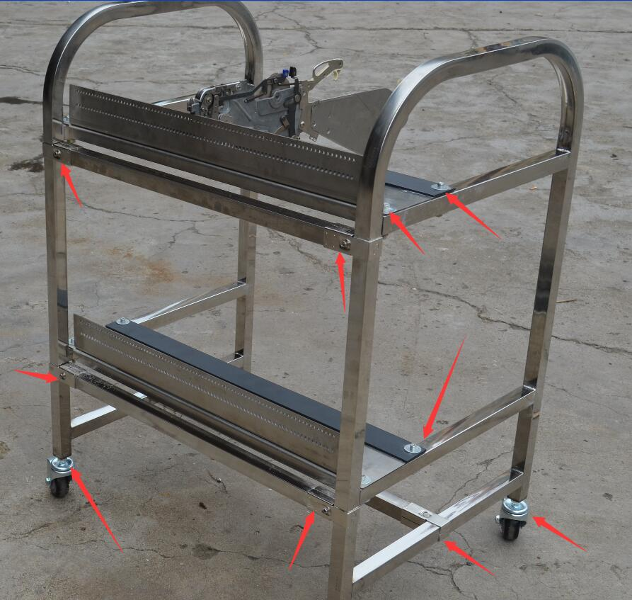 KNOKOO SMT mechanical feeder cart storage trolley cart juki mechanical feeder cart storage trolley cart