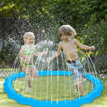 170cm Inflatable Sprinkler Water Mat Beach Play Pad For Kids Baby Outdoor Lawn Sand Sprinkler Cushion Summer Children Water Toys