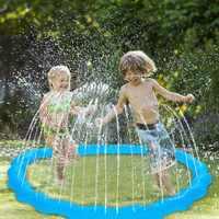 170 cm Aufblasbare Sprinkler Wasser Matte Strand Spielen Pad Für Kinder Baby Im Freien Rasen Sand Sprinkler Kissen Sommer Kinder Wasser spielzeug