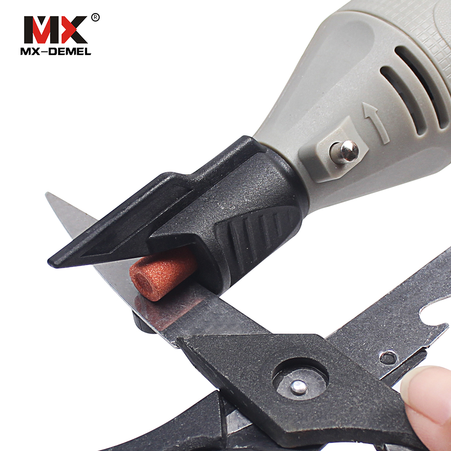 MX-DEMEL Saw Sharpening Attachment Sharpener Guide Drill Adapter For Dremel Drill Rotary Power Tools Mini Drill Accessories mx demel high quality 17pcs 1 2 felt polishing wheels dremel accessories fits for dremel rotary tools dremel tools small