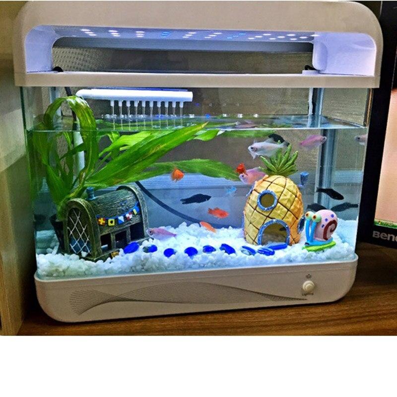 Aquarium Accessoires Décoration Résine Ananas de Spongebob Accueil Fish  Tank Accessoires Abri Décor Fournitures Pour Animaux de compagnie Aquarium  Décor