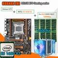 HUANAN ZHI Deluxe X79 gaming moederbord LGA 2011 ATX CPU E5 1650 V2 SR1AQ 4x8G 1600 Mhz 32 GB DDR3 RECC Geheugen met koeler