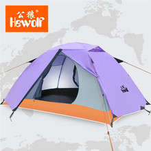 Hewolf Outdoor Double Layer Tent For Hiking Camping Beach Waterproof Anti-tear Tent Lightweight Durable Lover Couple Tent 1595