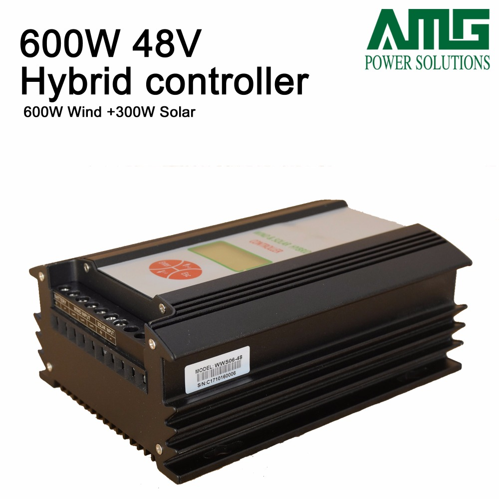 900W 48V wind solar hybrid controller( 600w wind + 300w solar+LCD display) / hybrid regulator charger wind and solar hybrid controller 600w with lcd display charge controller for 600w wind turbine and 300w solar panel 12v 24v
