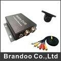 1 channel coche dvr, kit dvr móvil, utilizado en taxi, coche privado, incluyendo hd cámara del coche y el cable de vídeo, grabación automática 64 G SD