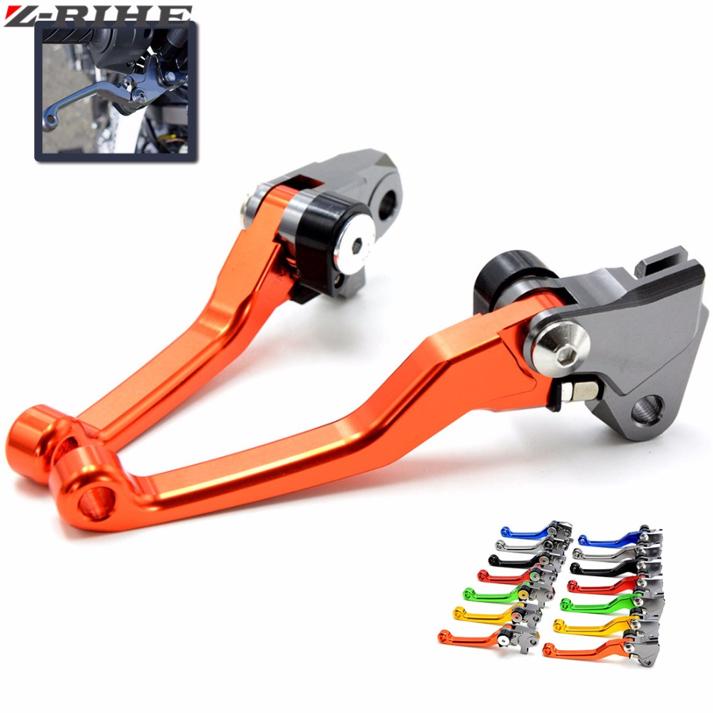 CNC Pivot Foldable Clutch Brake Lever For KTM 125/144SX EXC SXF250 EXC300 SX450 450XC-W Supermoto Dirt Bike Off Road Motocross cnc pivot brake clutch lever for kawasaki kx65 kx85 kx125 kx250 kx250f new