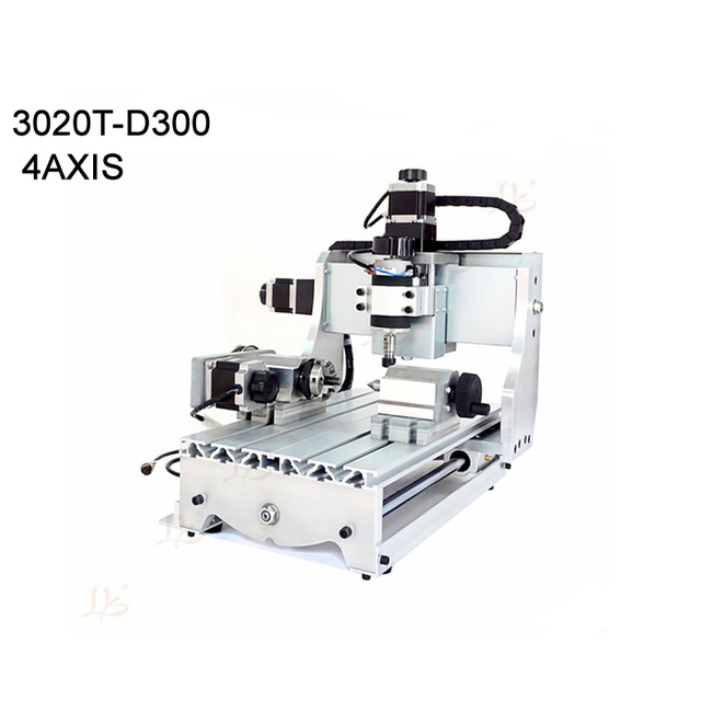 حار بيع البسيطة 4 محور الخشب cnc راوتر CNC 3020 300w راوتر cnc آلة طحن مع MACH3 saoftware