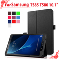 Case для T580 T585 Флип case Cover For Samsung Galaxy Tab 10.1 2016 T585 T580 SM-T580 T580N 10.1 tablet пк