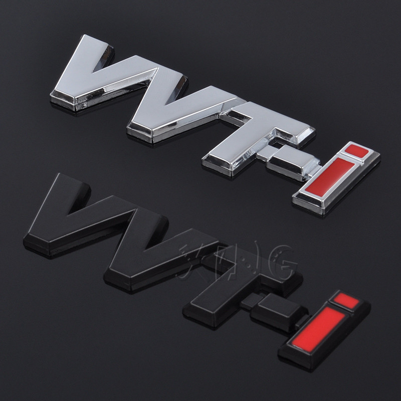 1pc Car SUV Trunk Badge Fender Emblem Stickers VVTI VVT-I Decals Black//Red