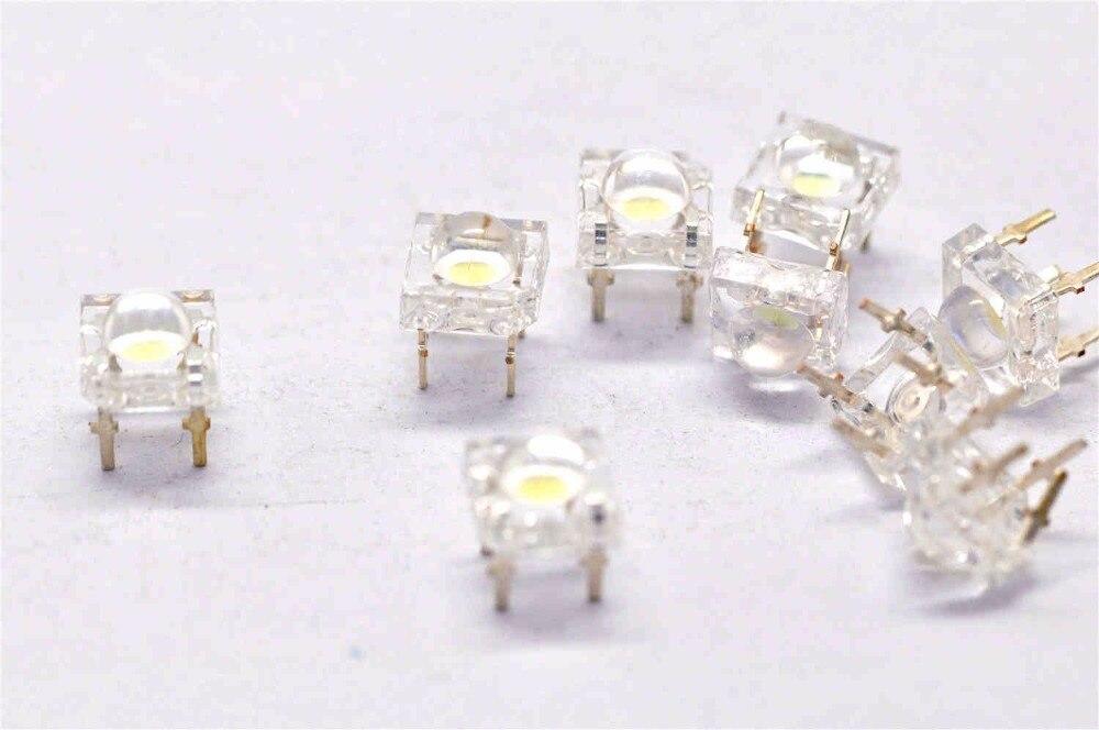 Lampe à LED perles lumineuses 5mm lumière blanche est blanc piranha diodes électroluminescentes (500 pièces)