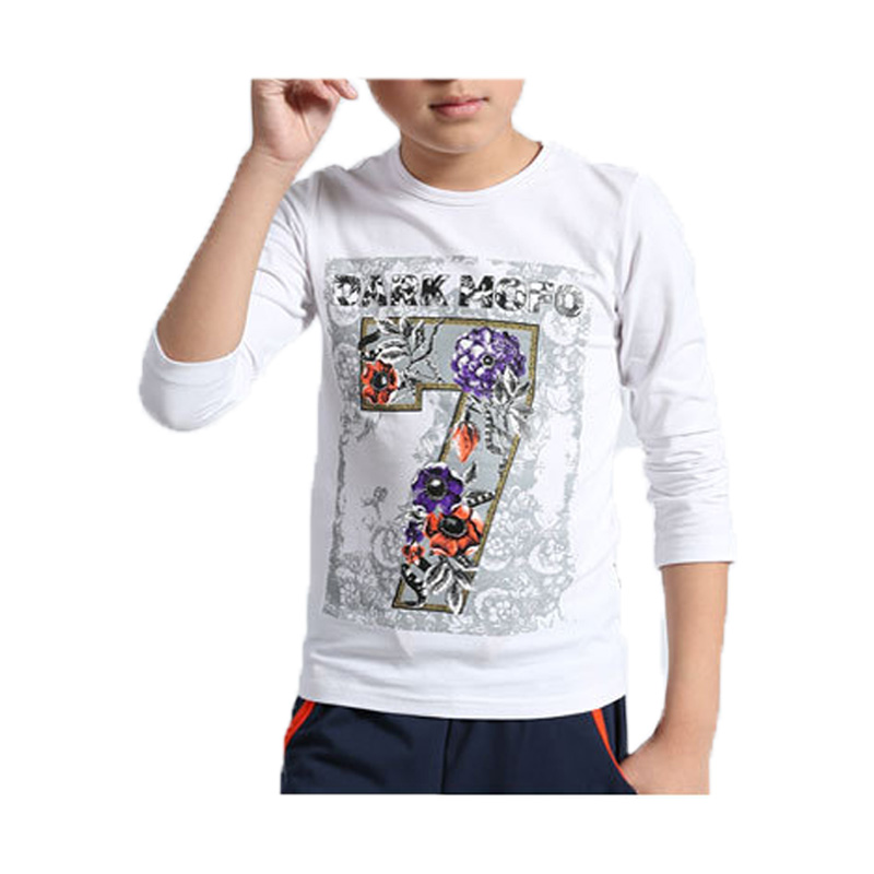 ФОТО Kids Clothes 2017 Spring Autumn New Fashion Children Clothing T shirts For Boys O-Neck Cotton Long Sleeve Boys T shirt Printed