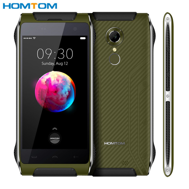 HOMTOM HT20 Pro Cellphone MT6753 1.3GHZ 4G Android 6.0 Fingerprint Mobile Phone waterproof dustproof 3GB RAM 32GB ROM 13MP