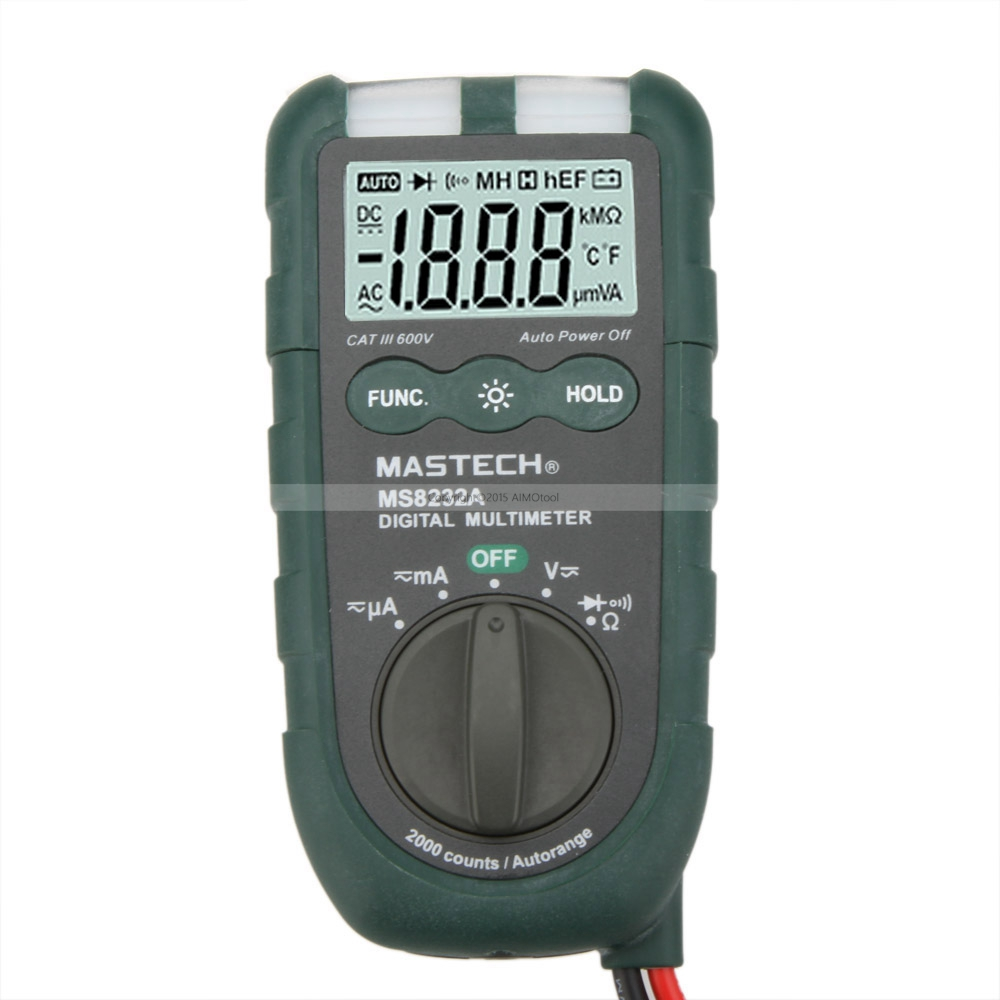 MASTECH MS8232A Mini Digital Multimeter 2000 counts DMM Ammeter Voltmeter Ohmmeter Resistance Tester with NCV цена 2017