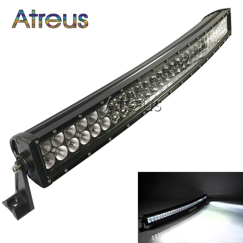 43inch 240w Curved LED Work Light Bar 12V Spot Flood High Power 17600Lm For Boat Offroad 4x4 Truck SUV ATV JEEP Driving Fog Lamp eyourlife 23 25 inch 120w fog lamp spot wide flood beam combo work driving led light bar for offroad suv atv 12v 24v 99