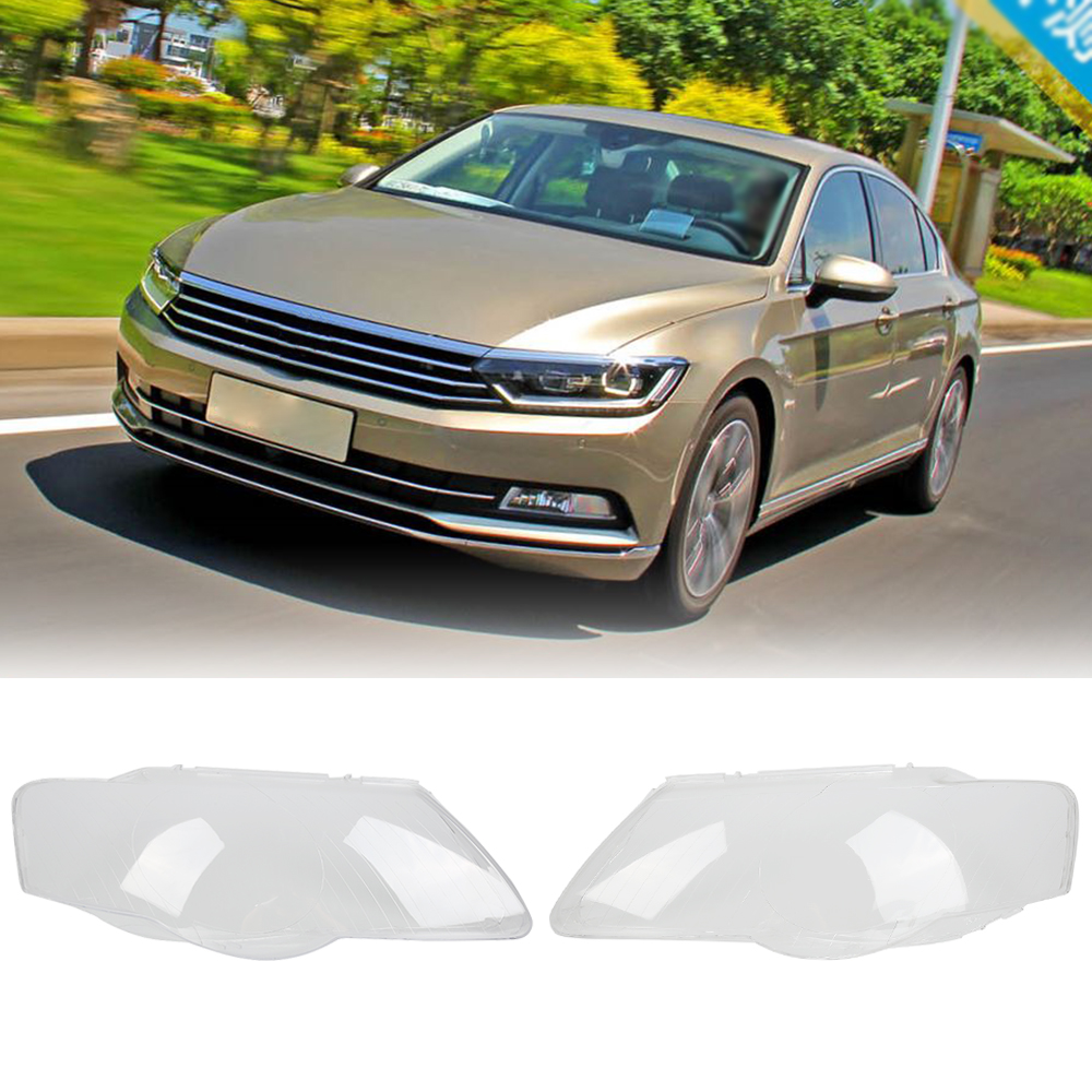 2x Transparent Housing Headlight Lens Shell Cover Lamp Assembly Left Side & Right Side Cover For VW Passat B6 2005-2009 купить