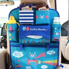 Auto Car Organizer Backseat Bag Car Styling Holder Multi Pocket Seat Wool Felt Storage Container Hanging Box Car Storage for Kid