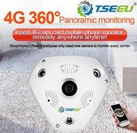 5 Megapixel 4G 3G sim card indoor panoramic fisheye 360 degree IP Camera camhi pro app view remotely