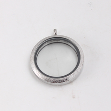 6pcs/lot 20mm/25mm/30mm/34mm/38mm silver 316L stainless steel floating locket pendant Glass memory father day gift