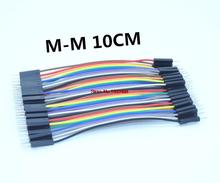 Free shipping 1lot =400pcs 10cm 2.54mm 1pin 1p-1p male to male jumper wire Dupont cable for arduino