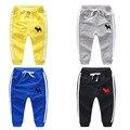 Ребенок спортивные брюки мужчины мальчики ребенок девочек одежда 100% хлопок трикотажные брюки детские брюки повседневные брюки длинные брюки весна