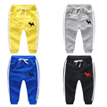 Child sports pants male boys child girls clothing 100% cotton knitted pants baby pants casual pants long trousers spring