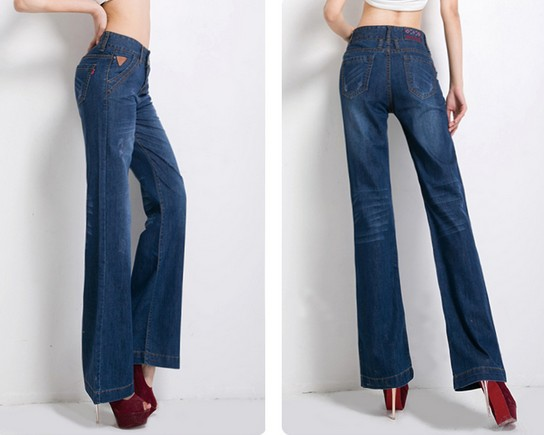 Online Shop Free shipping Autumn new Korean yards wide leg jeans ...