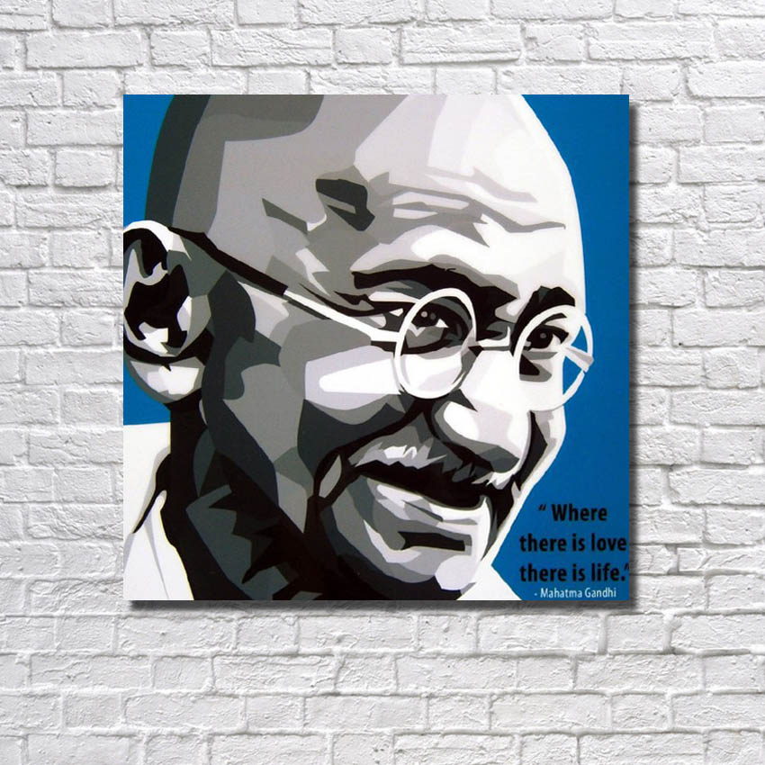 Leader portrait pictures hand drawing pop art acrylic oil painting simple design easy paint for painting